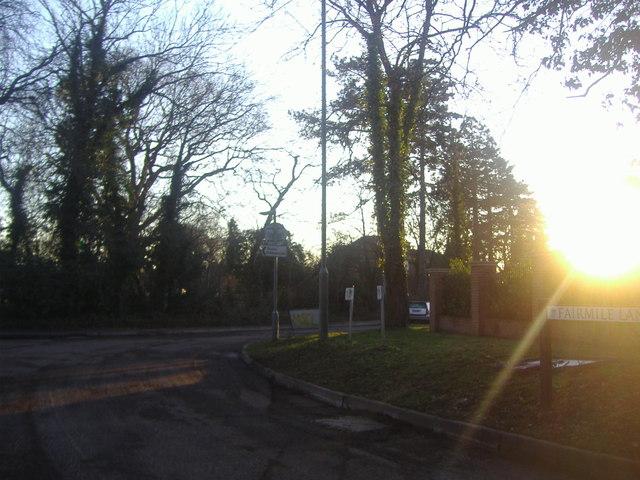 Roundabout on Fairmile Lane, Cobham