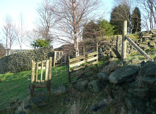 Footpath gates at Owlet Hill