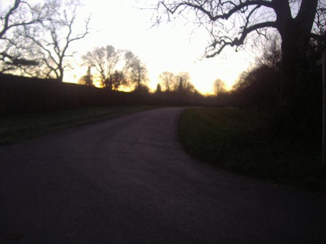 Ranmore Common Road by Denbies vineyard entrance