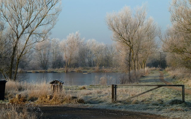 Hoar frost at the fishing lake, Carr Vale