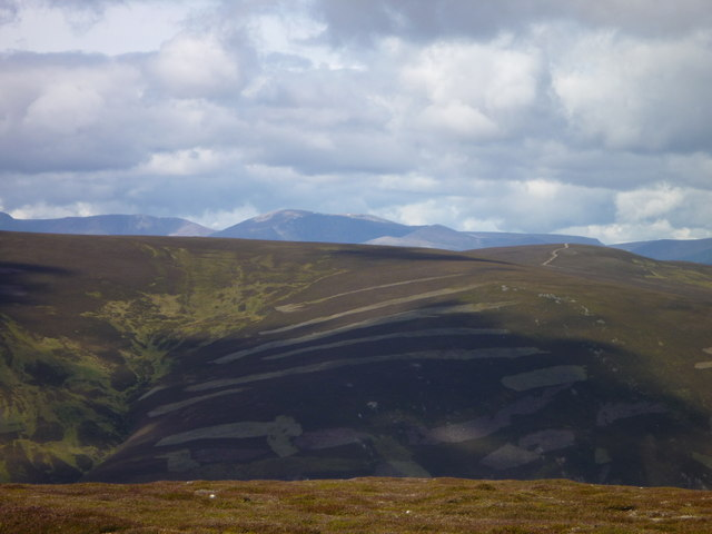 Looking to the western side of Glen Clunie from Creag nan Gabhar on east side of the glen