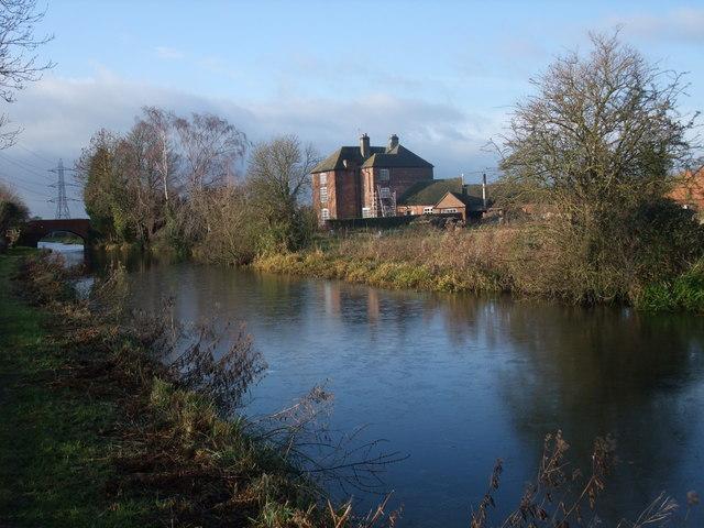Weston Grange across the Trent & Mersey Canal