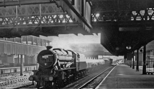 Westbound freight at Manchester Victoria/Exchange