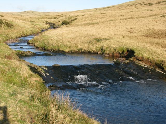 The Afon Llia from Sarn Helen