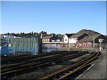 SH5738 : Adeiladu platfform newydd - Building a new platform by Alan Fryer