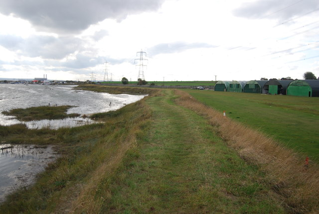 Footpath by Stoke Airfield