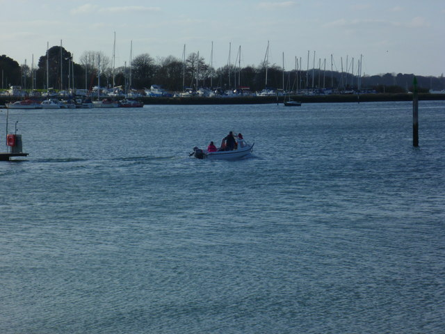 Boat heading out from Chichester Marina