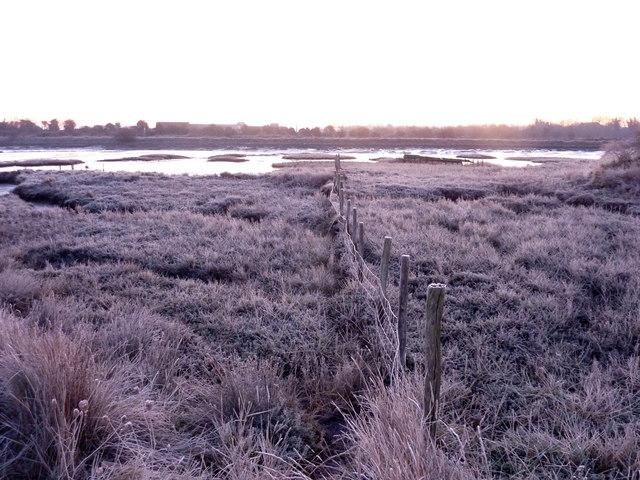 Frosty morning at Oare Creek
