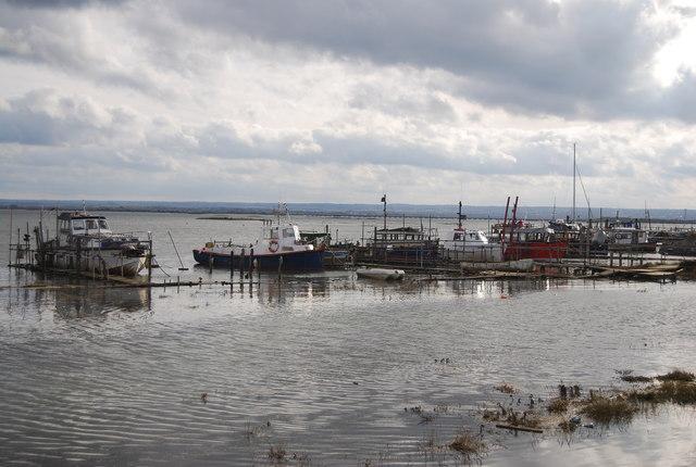 Boats moored at Stoke Creek