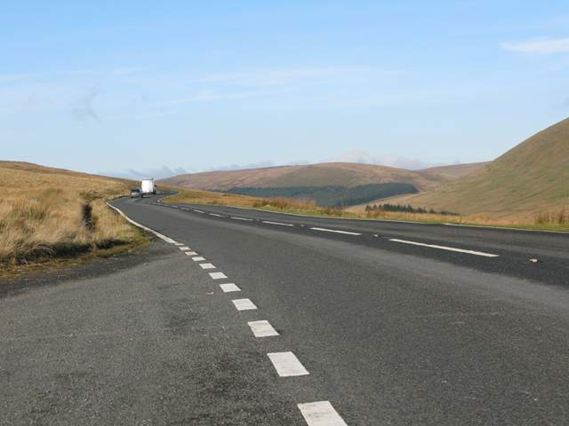 The A4059 at Pant y Waun, towards Brecon