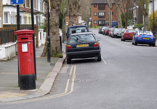 The Vale | Mansell Road postbox (ref. W3 21)