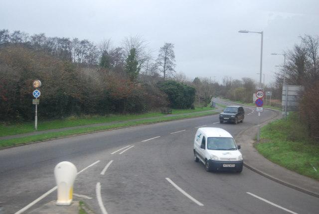 A3066 east of Bridport