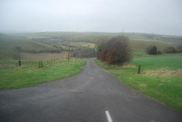 Farm track to Stancombe Farm