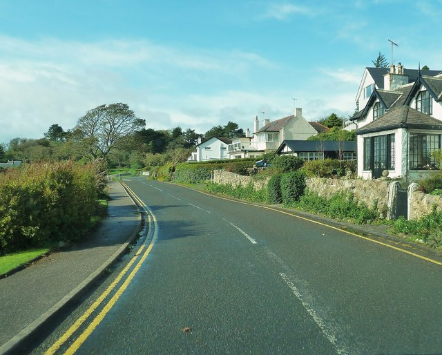 Houses overlooking the sea at Rockcliffe