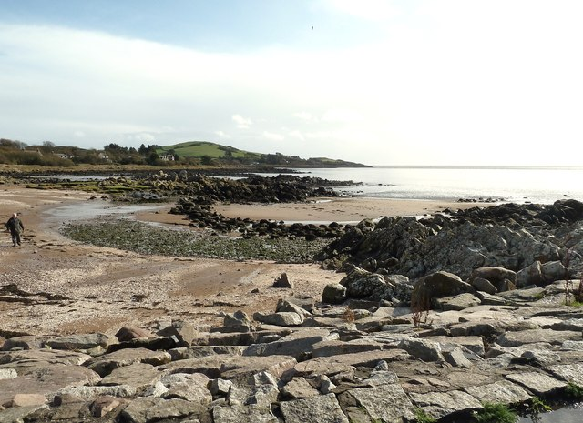 Rockcliffe beach looking towards Barcloy Hill