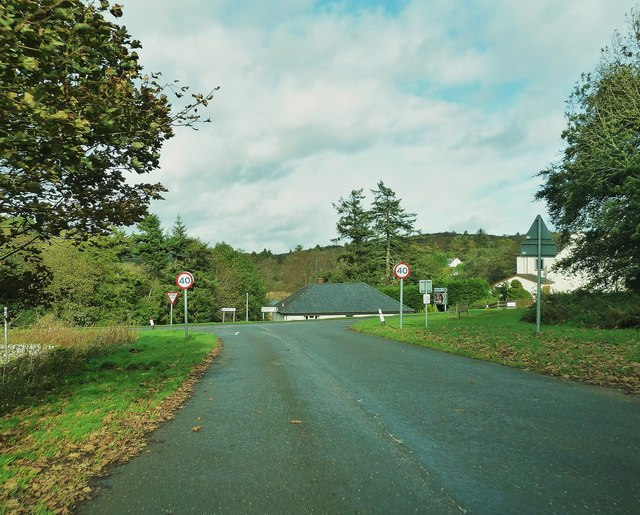 The road from Rockcliffe meets the A710