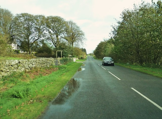 The entrance to East Barcloy, heading east on the A710