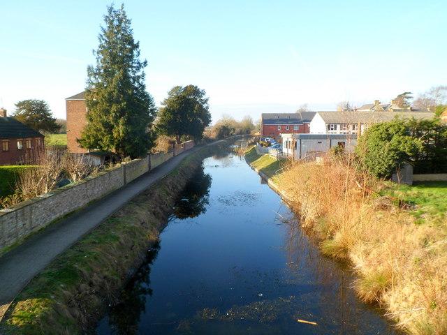 Stroudwater Canal west of Oil Mills Bridge, Ebley