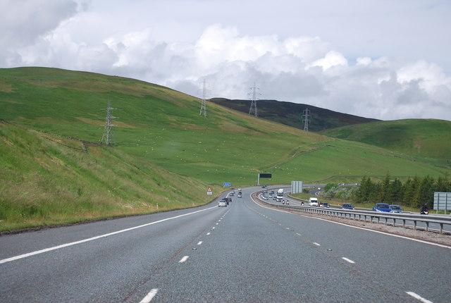 A74(M) near Crawford