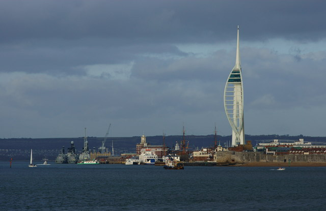 View Towards Portsmouth Harbour, Hampshire