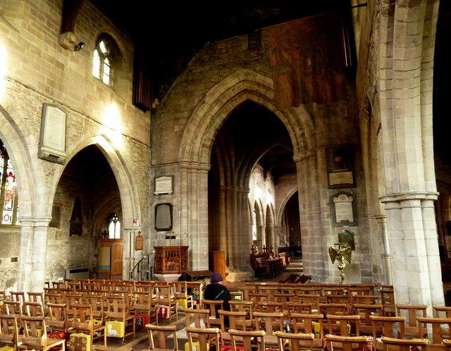 Interior, Church of St Mary, Wirksworth