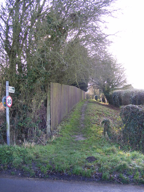 Footpath to the B1123 The Street