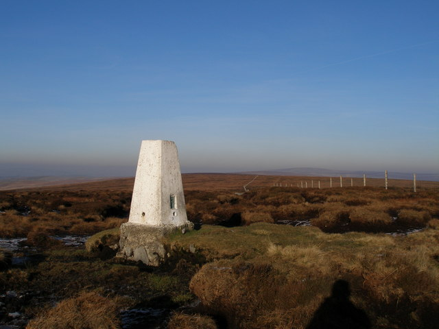 Trig point on Hoof Stones Height