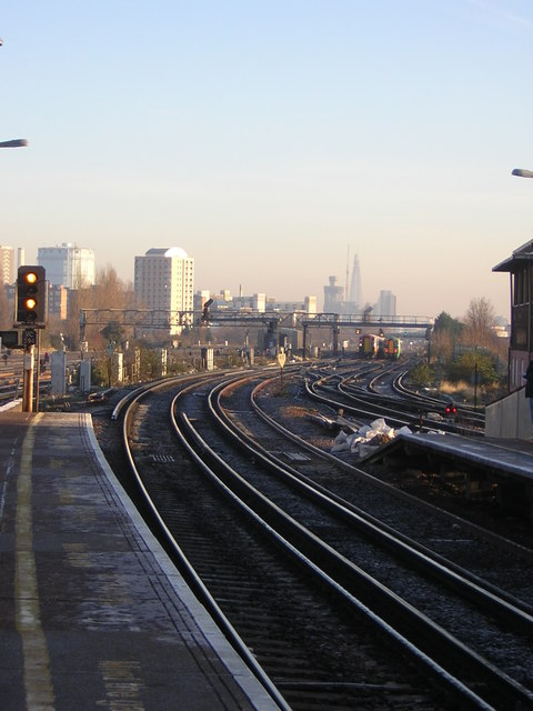 Clapham Junction: view towards London