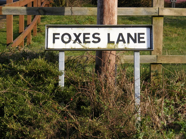 Foxes Lane sign