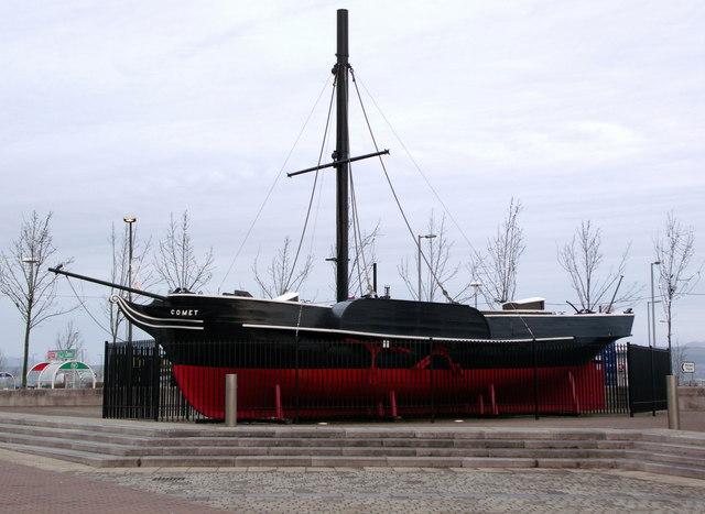 PS Comet replica at Port Glasgow