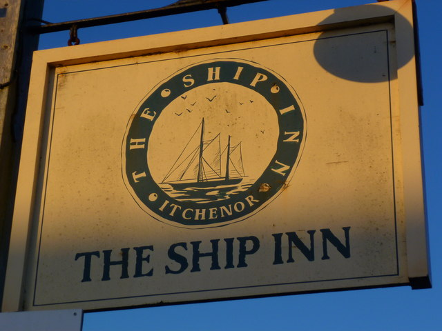 Sign at The Ship Inn at West Itchenor
