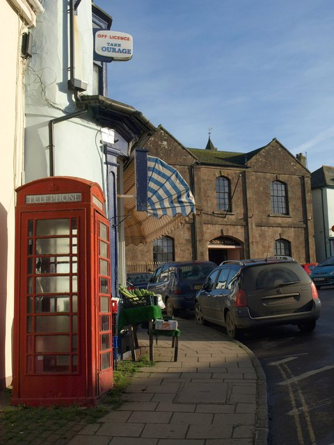 Shop and town hall, North Tawton