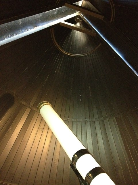 Detail of the telescope, York Observatory