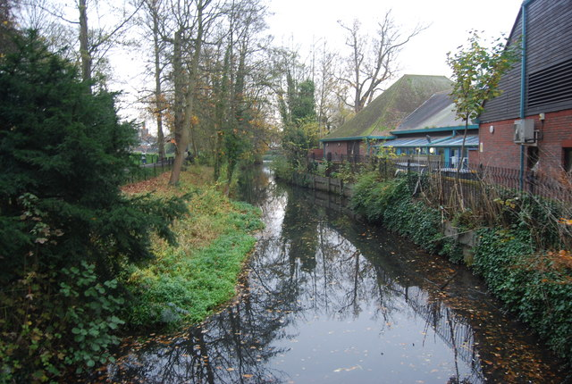 A channel of the River Medway