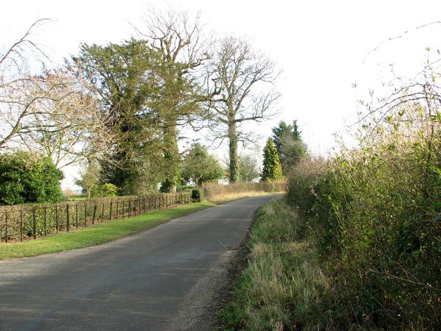 Lane past Redhouse Farm