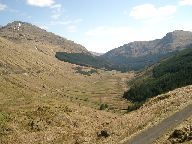 Glen Croe from the Rest and Be Thankful Pass