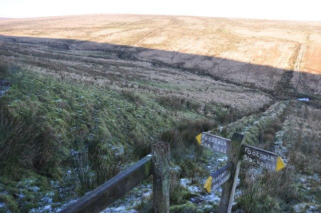 Exmoor : Moorland & Signpost