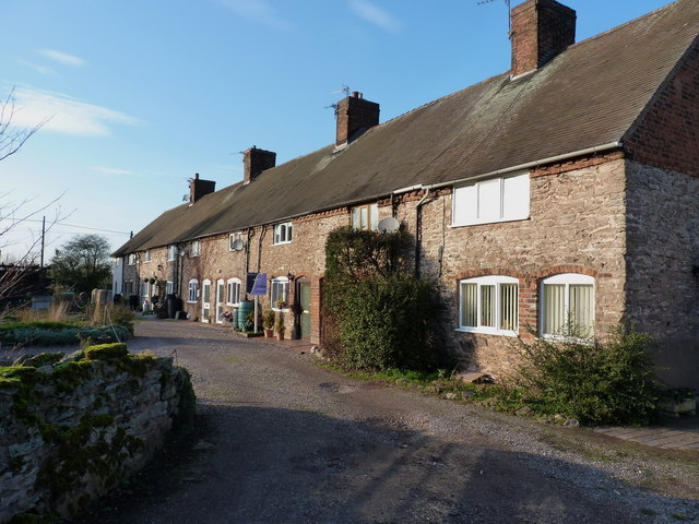 Stone cottages, Lilleshall