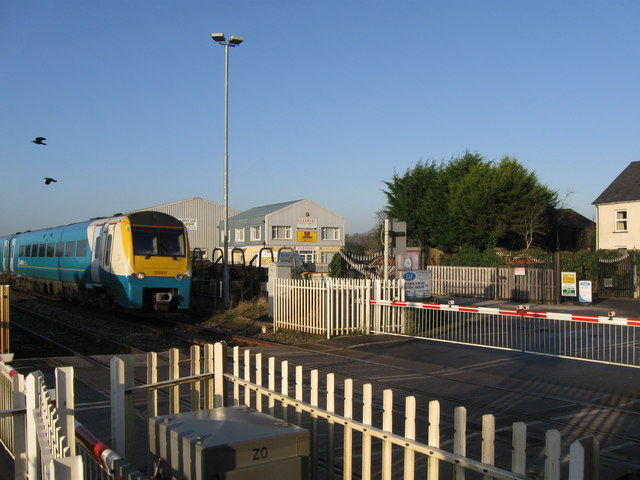 Up train through St Clears crossing