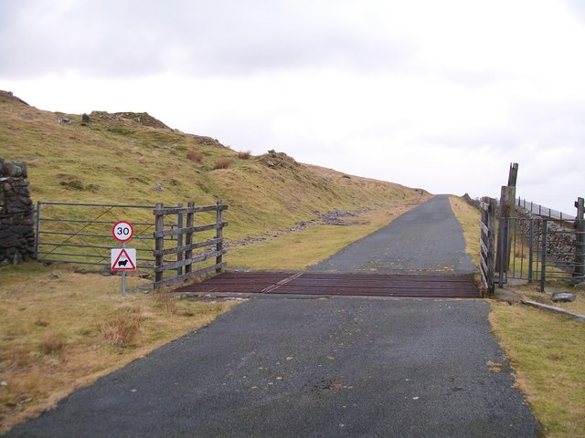 Cattle grid on the upper section of the HEP road