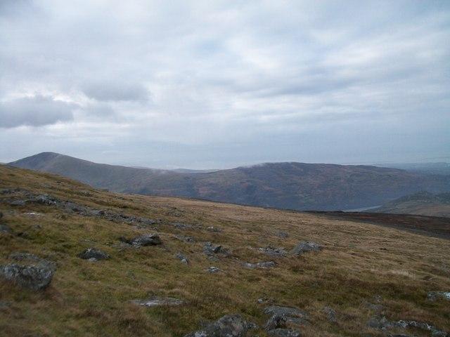 The moraine strewn slopes of Gwastad Ffynnon-deg on Elidir Fach