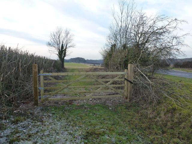 Locked gate in Norfolk