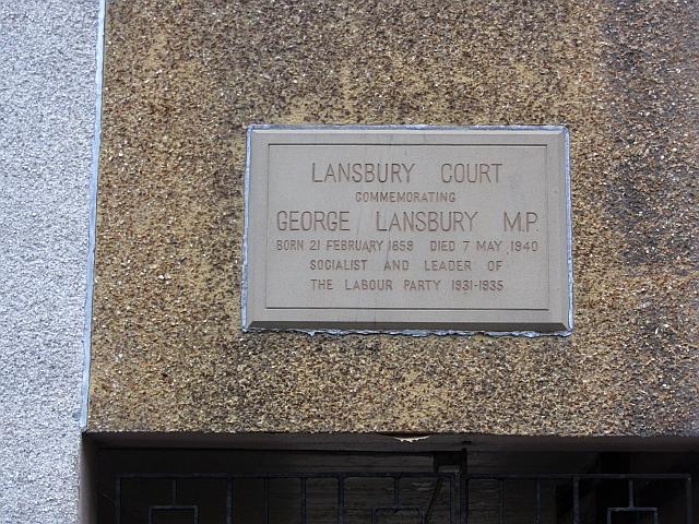 Plaque, Lansbury Court