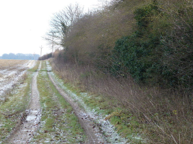 Frosty track in Congham, Norfolk