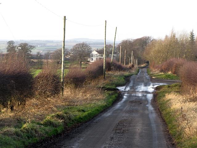 A minor road near Heiton