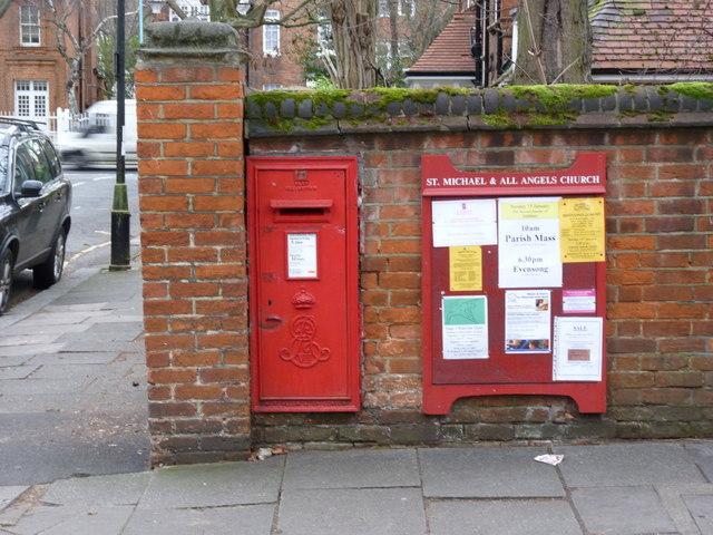 Priory Avenue | Priory Gardens postbox (ref. W4 53)
