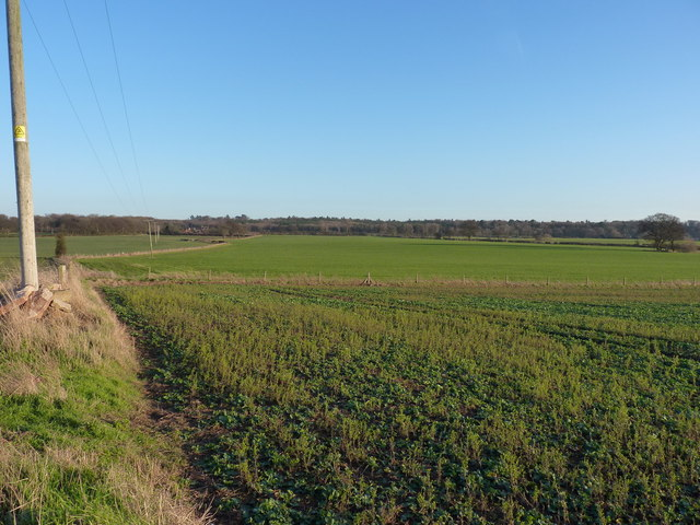 Farmland south of Lilleshall