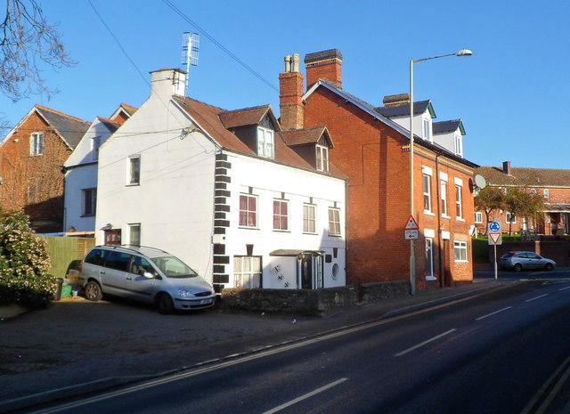 Houses on the corner of Westward Road and Foxmoor Lane, Ebley