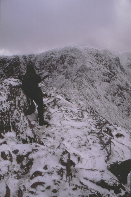 A tough day on Striding Edge