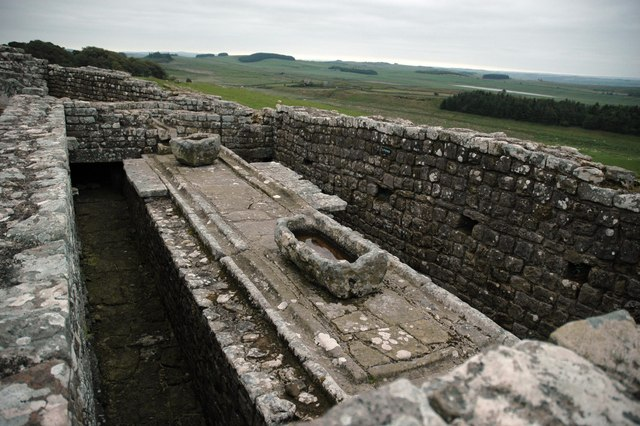 The Latrines - Housesteads Roman Fort